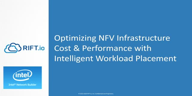 Reduce Costs & Optimize Infrastructure with Intelligent, VNF Workload Placement