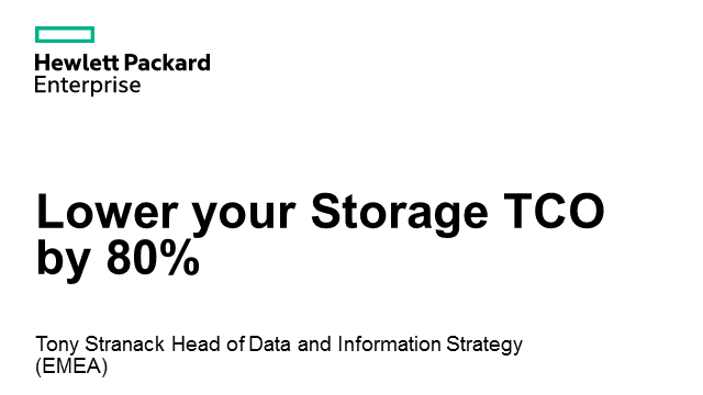 HP Storage Best Practice delivers 80% TCO benefit