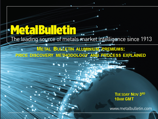 Metal Bulletin aluminium premiums: price discovery methodology explained