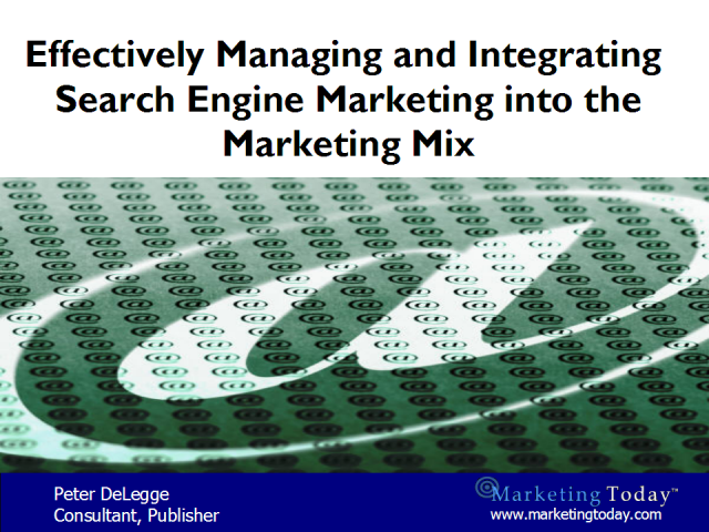 Managing Search Engine Marketing