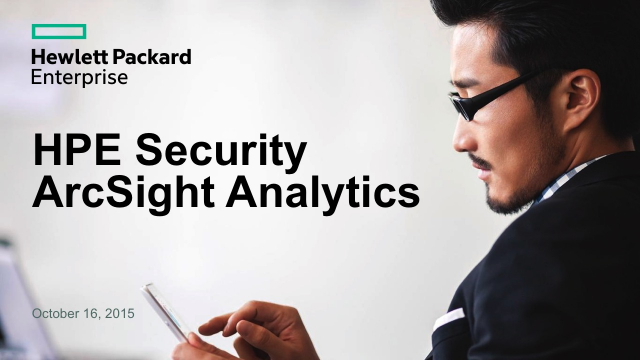 HPE Security ArcSight Analytics