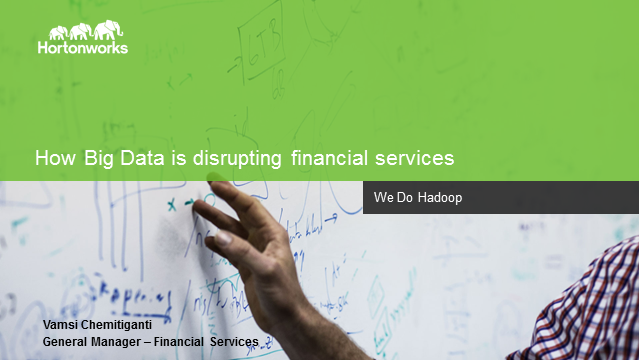 How Big Data is Disrupting Financial Services