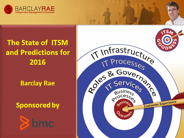 The State of ITSM - and Predictions for 2016