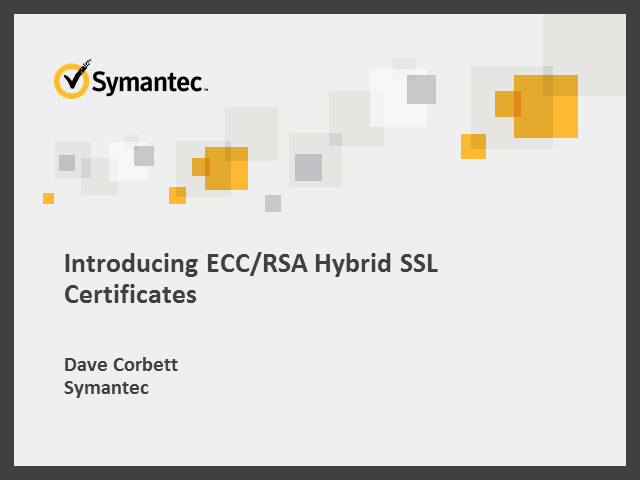 Introducing ECC/RSA hybrid SSL Certificates