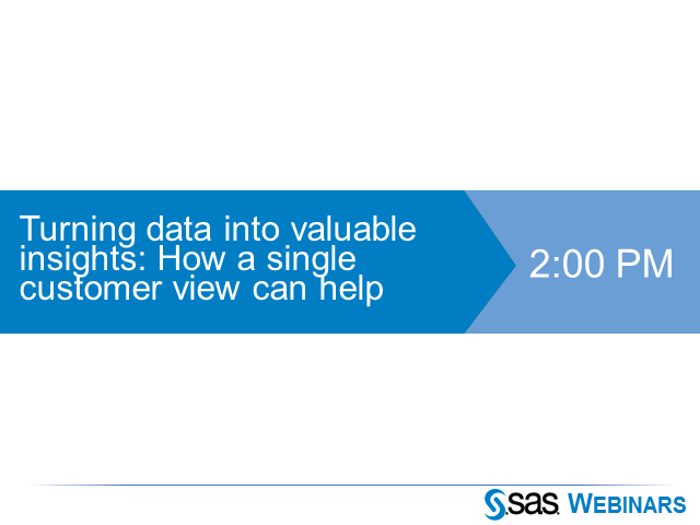Turning data into valuable insights: How a single customer view can help