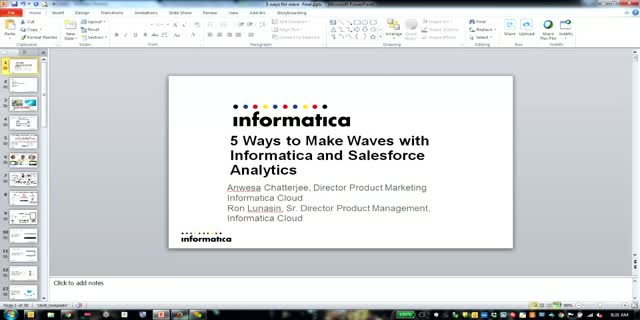5 Ways to Make Waves with Informatica and Salesforce Analytics Cloud