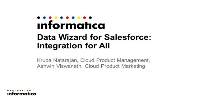 Data Wizard for Salesforce: Integration for All