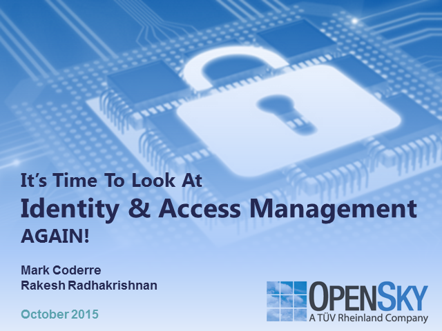 Time to Look at Identity & Access Management