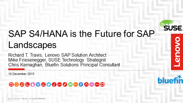 SAP S4/HANA is the Future for SAP Landscapes - Enable  your data center now