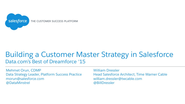Building a Customer Master Strategy in Salesforce