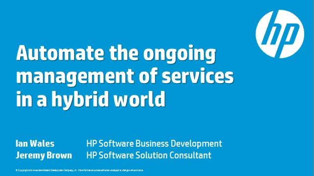 Automating Services in a Hybrid World