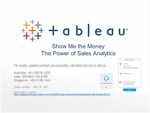 Show Me the Money -- The Power of Sales Analytics
