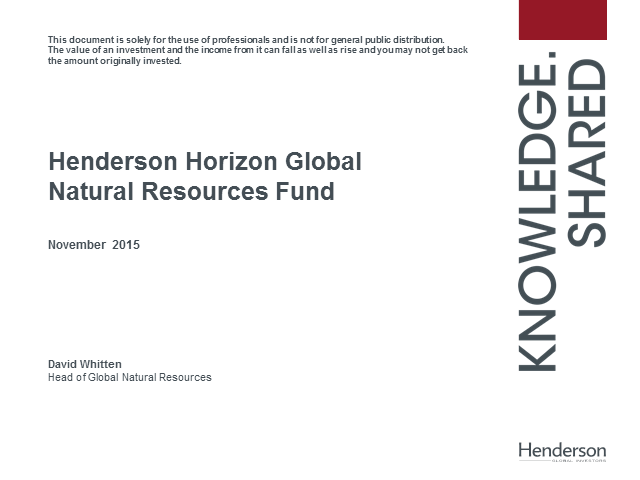 Henderson Horizon Global Natural Resources Fund update