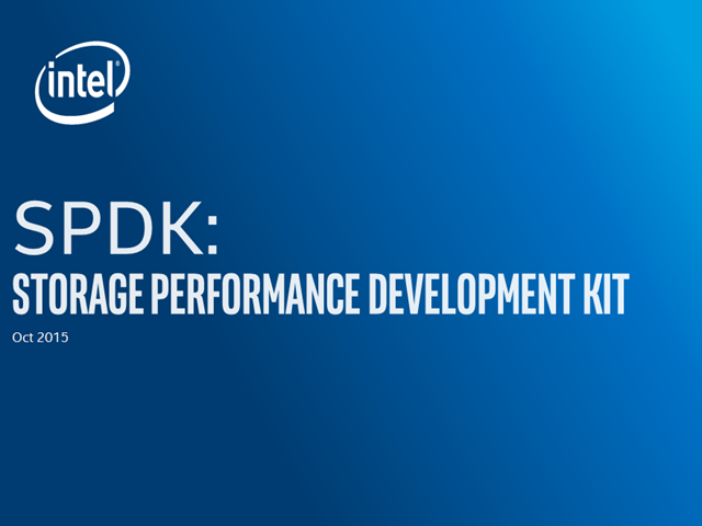 Enabling the Storage Transformation with SPDK