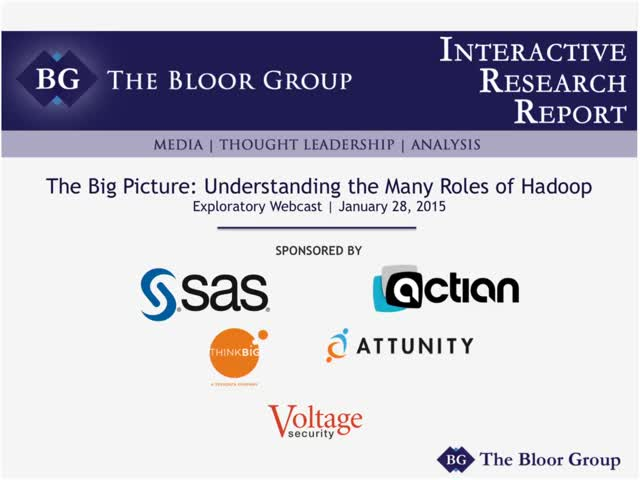 The Big Picture: Understanding the Many Roles of Hadoop