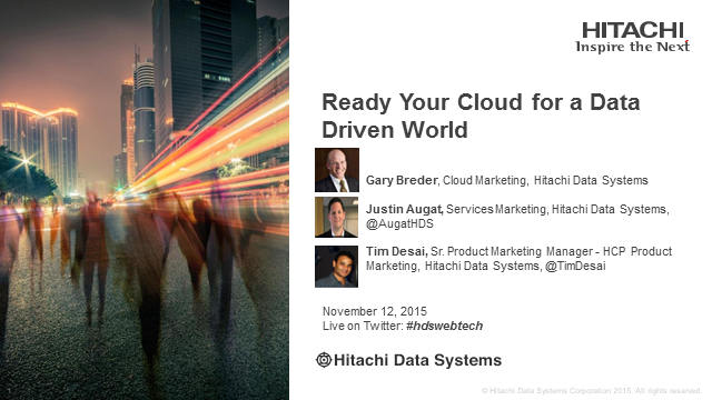 Ready Your Cloud for a Data-Driven World