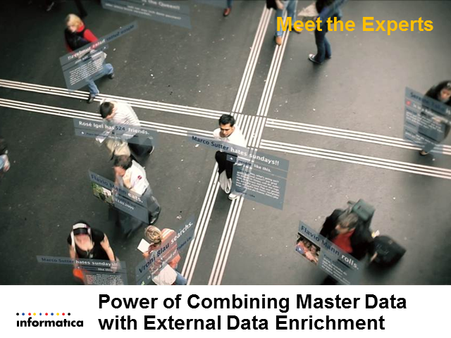 Meet the Experts: Power of Combining Master Data with External Data Enrichment