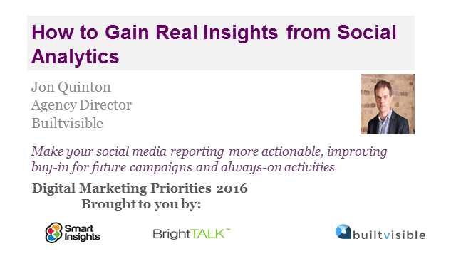 How to Gain Real Insights from Social Analytics