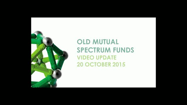 Old Mutual Spectrum Funds regular video update - 23/10/20