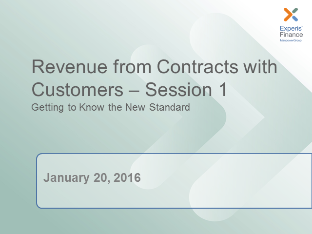 Revenue Recognition: Don't Wait. Learn What You Need to be Strategically Ready