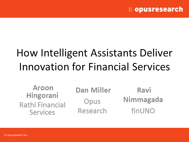 How Intelligent Assistants Deliver Innovation for Financial Services
