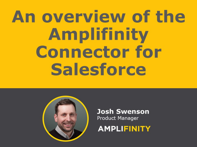 Amplifinity Salesforce Connector Overview