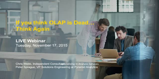 If You Think OLAP is Dead – Think Again