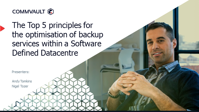 The Five Principles for Data Protection in a Software Defined Data Centre