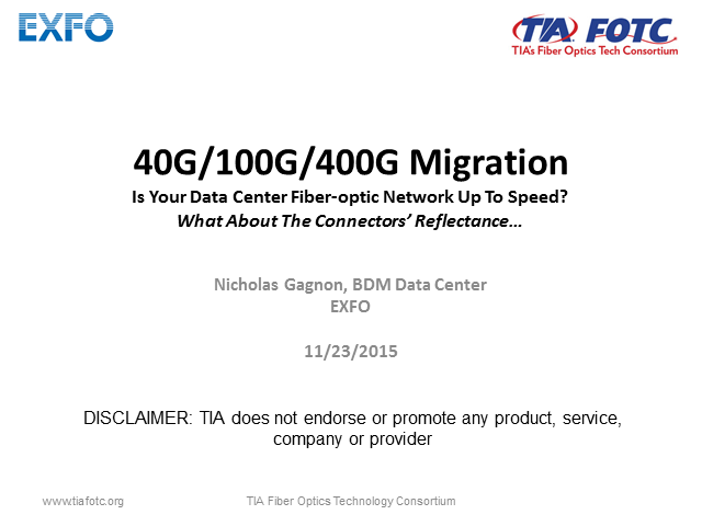 Migration to 40/100G in Data Centers