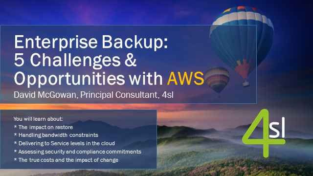 Enterprise Backup: 5 Challenges and Opportunities with AWS