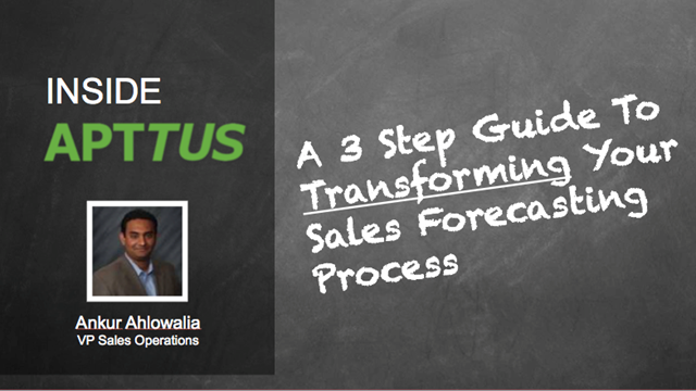 Inside Apttus: A 3 Step Guide to Transforming Your Sales Forecasting Process