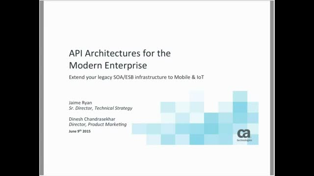 API Architectures for the Modern Enterprise