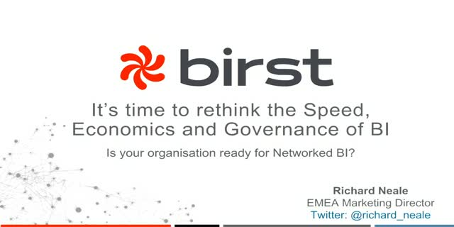 It's time to rethink the Speed, Economics and Governance of BI