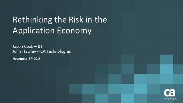 Rethinking Risk in the Application Economy