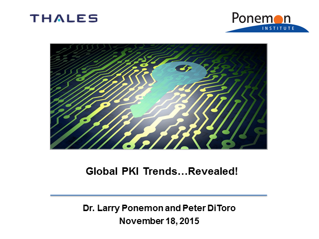Global PKI Trends…Revealed!
