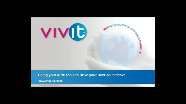 Using your APM Tools to Drive your DevOps Initiative