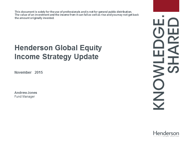Henderson Global Equity Income Update