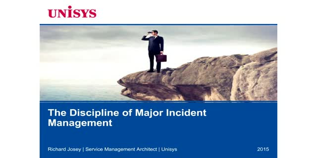 The Discipline of Major Incident Management