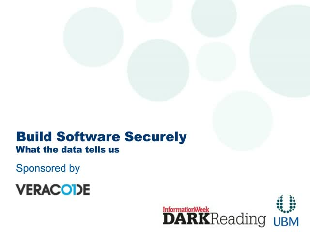 Build Software Securely. What the data tells us