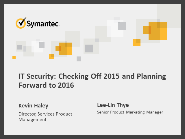 IT Security: Checking Off 2015 and Planning Forward to 2016