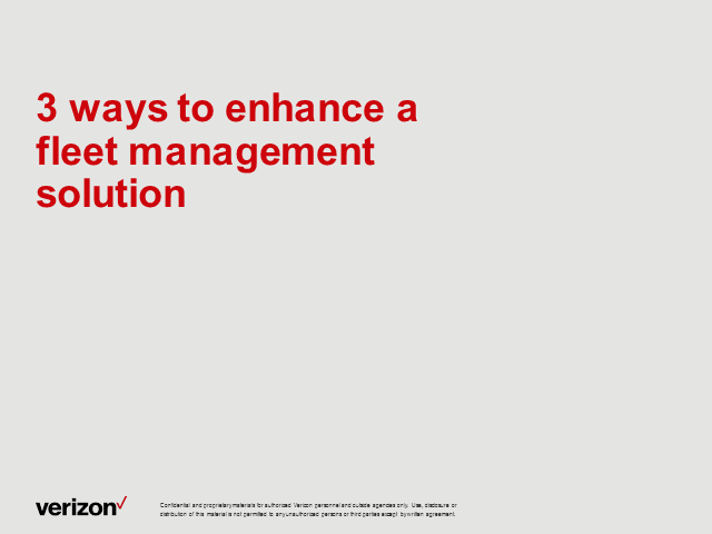 3 Ways to Enhance a Fleet Management Solution