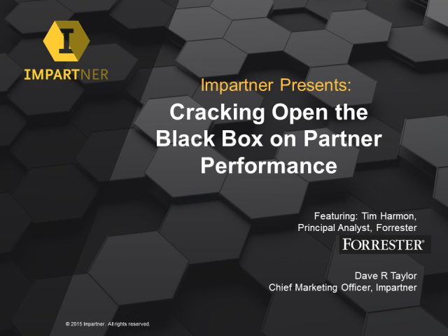 Cracking Open the Black Box on Partner Performance