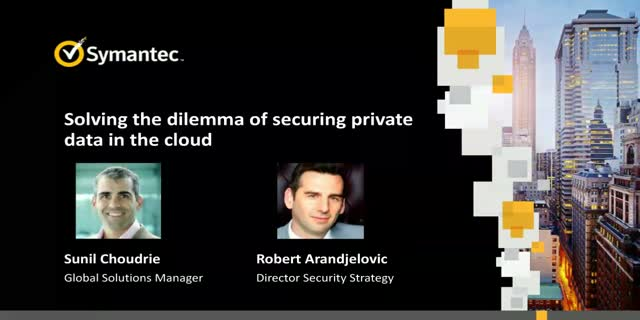 Solving the dilemma of securing private data in the cloud