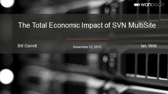 Total Economic Impact of SVN Multisite