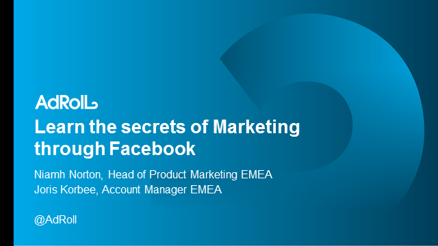 Learn the secrets of marketing through Facebook