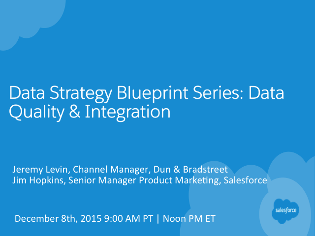 Data Strategy Blueprint Series: Data Quality & Integration
