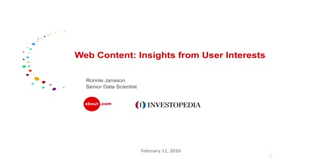 Web Content: Insights from User Interests