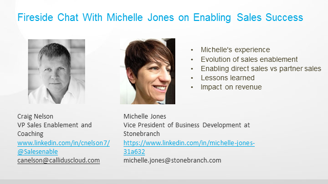 Fireside Chat With Michelle Jones on Enabling Sales Success