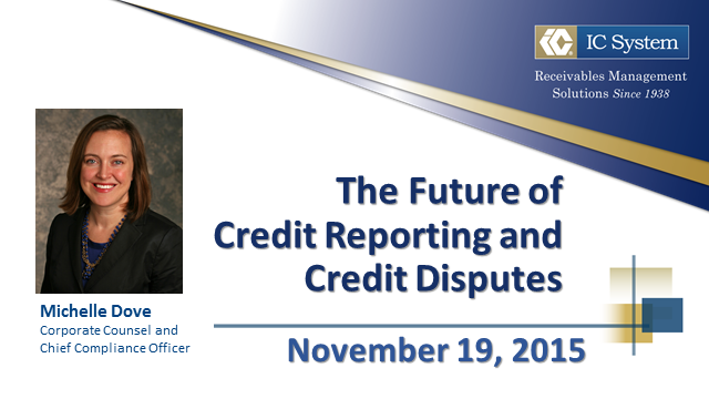 The Future of Credit Reporting and Credit Disputes