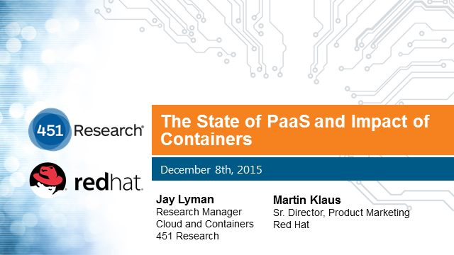 The State of PaaS and Impact of Containers